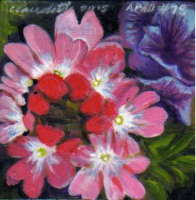 A Painting a Day #79 - Summer Blossoms