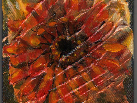 A Painting a Day #16 - Orange Flower