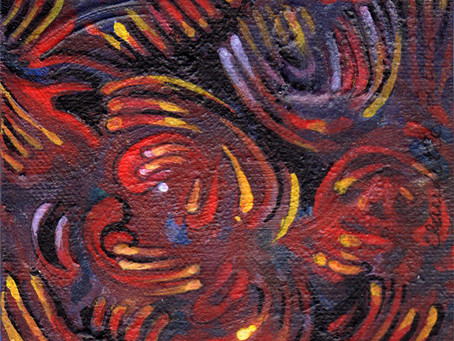 A Painting a Day #8 - Swirls