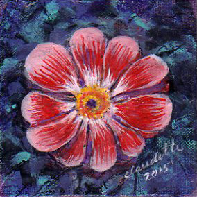 A Painting a Day #21 - Full Bloom