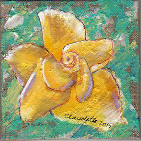 A Painting a Day #23 - Yellow Rose