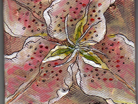 A Painting a Day #14 - Lily