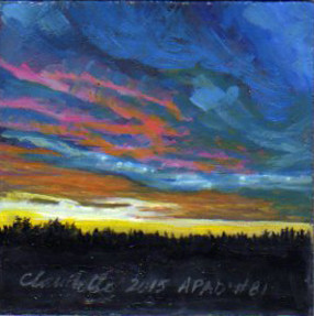 A Painting a Day #81 - Alberta Sunrise
