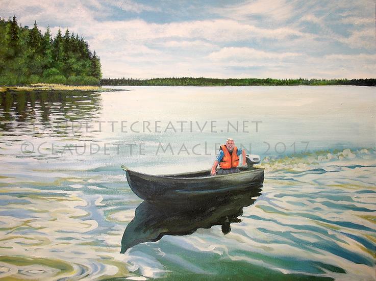 Dad in Boat