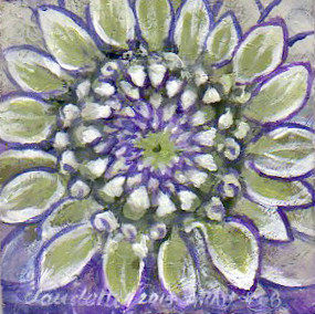 A Painting a Day #68 -  Dahlia
