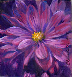 A Painting a Day #48 -  Perfectly Purple