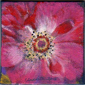 A Painting a Day #24 - Fuschia Fusion