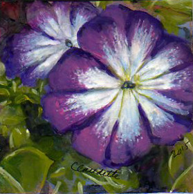 A Painting a Day #55 -  Purple Petunia