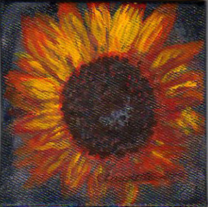 A Painting a Day #26 -  Here Comes the Sunflower