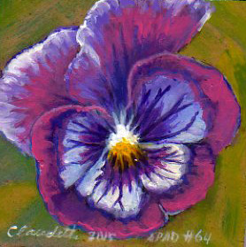 A Painting a Day #64 -  Purple Passion