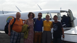 In front of our 6 seater plane