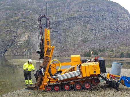 Prosjekt Lærdal fjordfront - positivt resultat av grunnundersøking