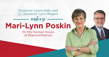 Governor Laura Kelly and Lt. Governor Lynn Rogers