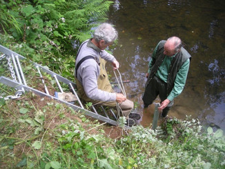 Fixing new ladders to enable access to the water