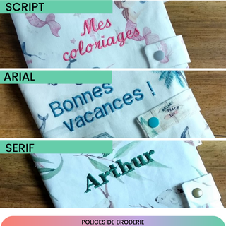 Cahiers de coloriage : choix des polices