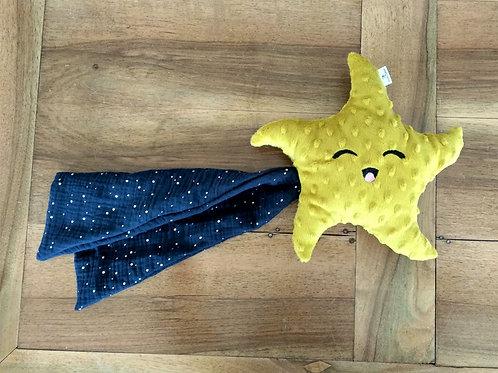 Doudou étoile avec prénom