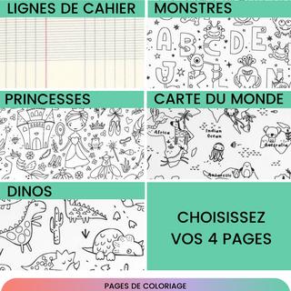 Cahiers de coloriage : choix des pages