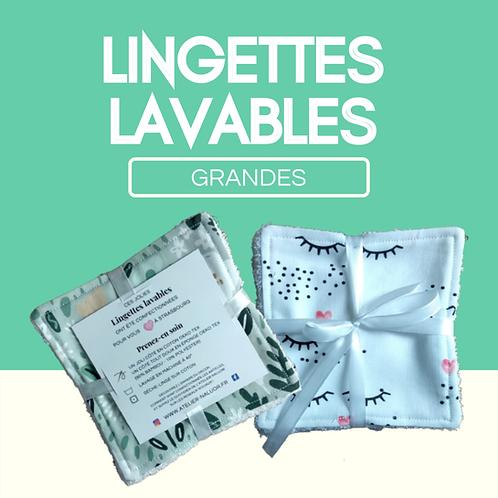 Lingettes lavables - Grandes