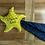 Thumbnail: Doudou étoile avec prénom - Autres tissus