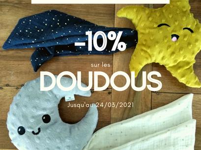 Les doudous sont en promo !