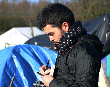 "Selfportrait in ""Basroch"" Grande-Synth kurdish refugee camp"