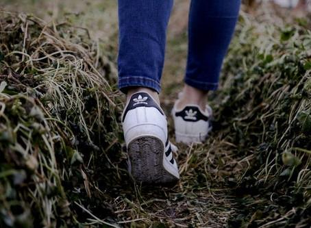 Een pad ontstaat door er op te wandelen