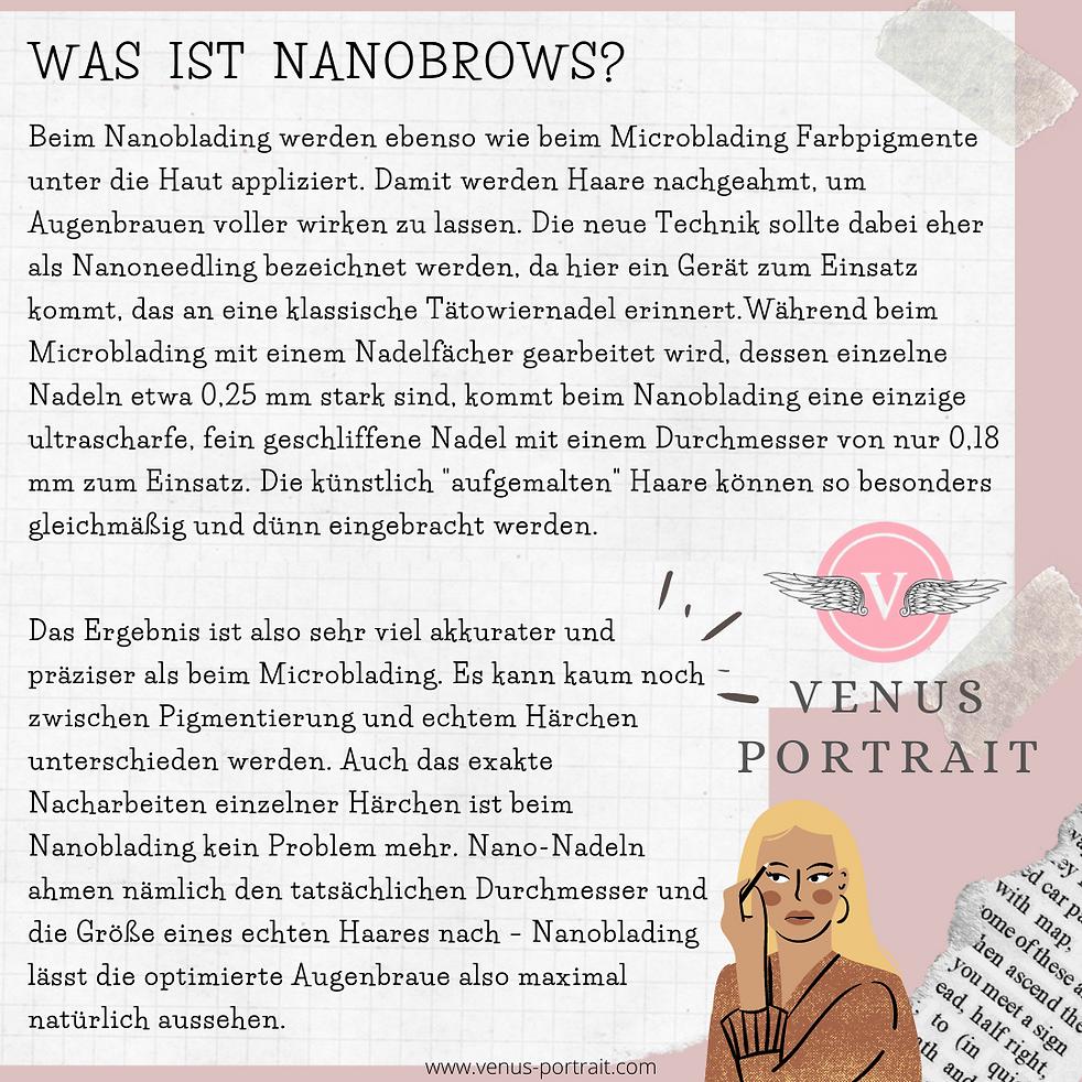 Venus portrait / Nanobrows
