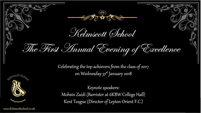 Excellence evening poster