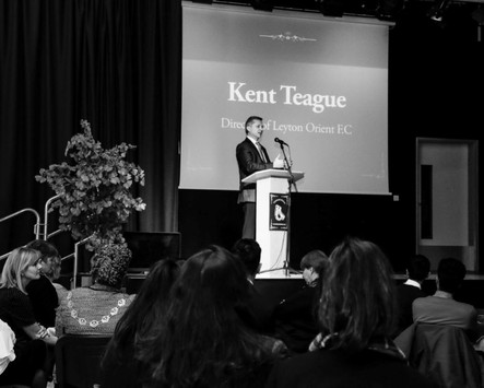Key speaker Mr Kent Teague, Director of Letyon Orient FC