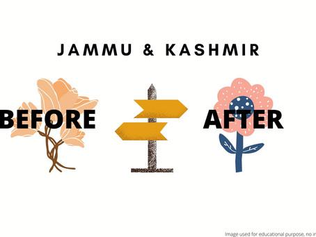 JAMMU AND KASHMIR REORGANISATION ACT, 2019: THE ANALYSIS