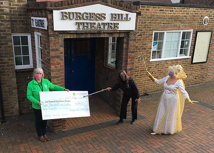 BHTC Cheque Handover - Wendy Agate
