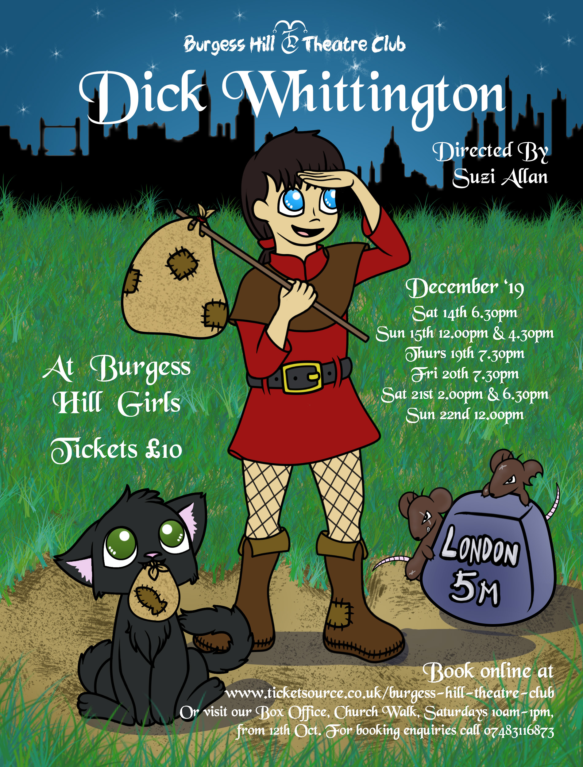 Dick Whittington Poster A5