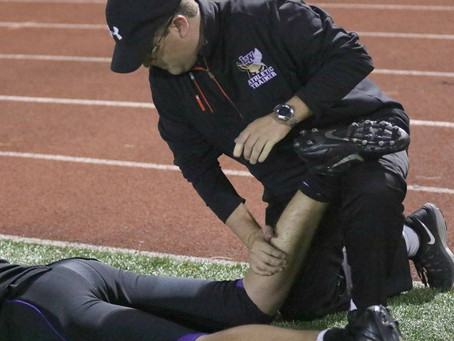 High school Athletic Trainers are on the ball during games & practices.