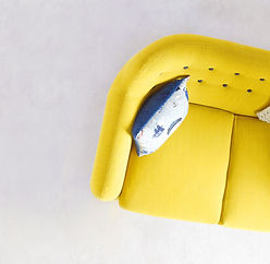 canapé jaune réalisations