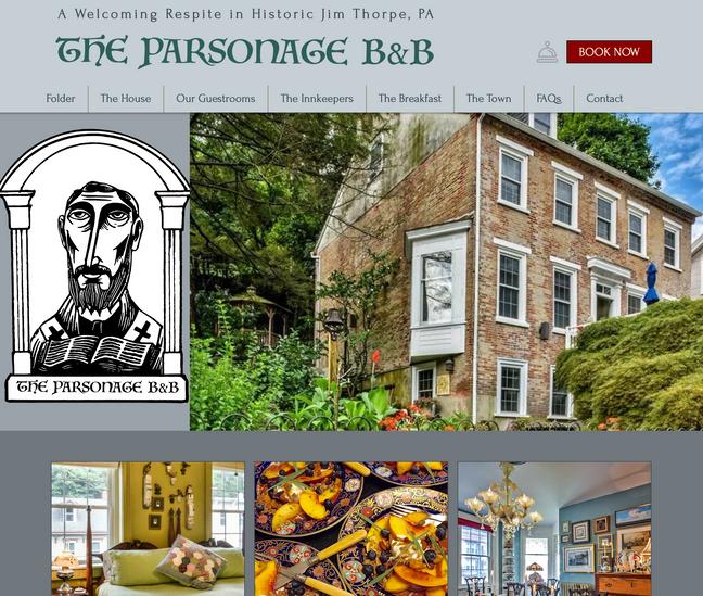 Parsonage Bed & Breakfast Website