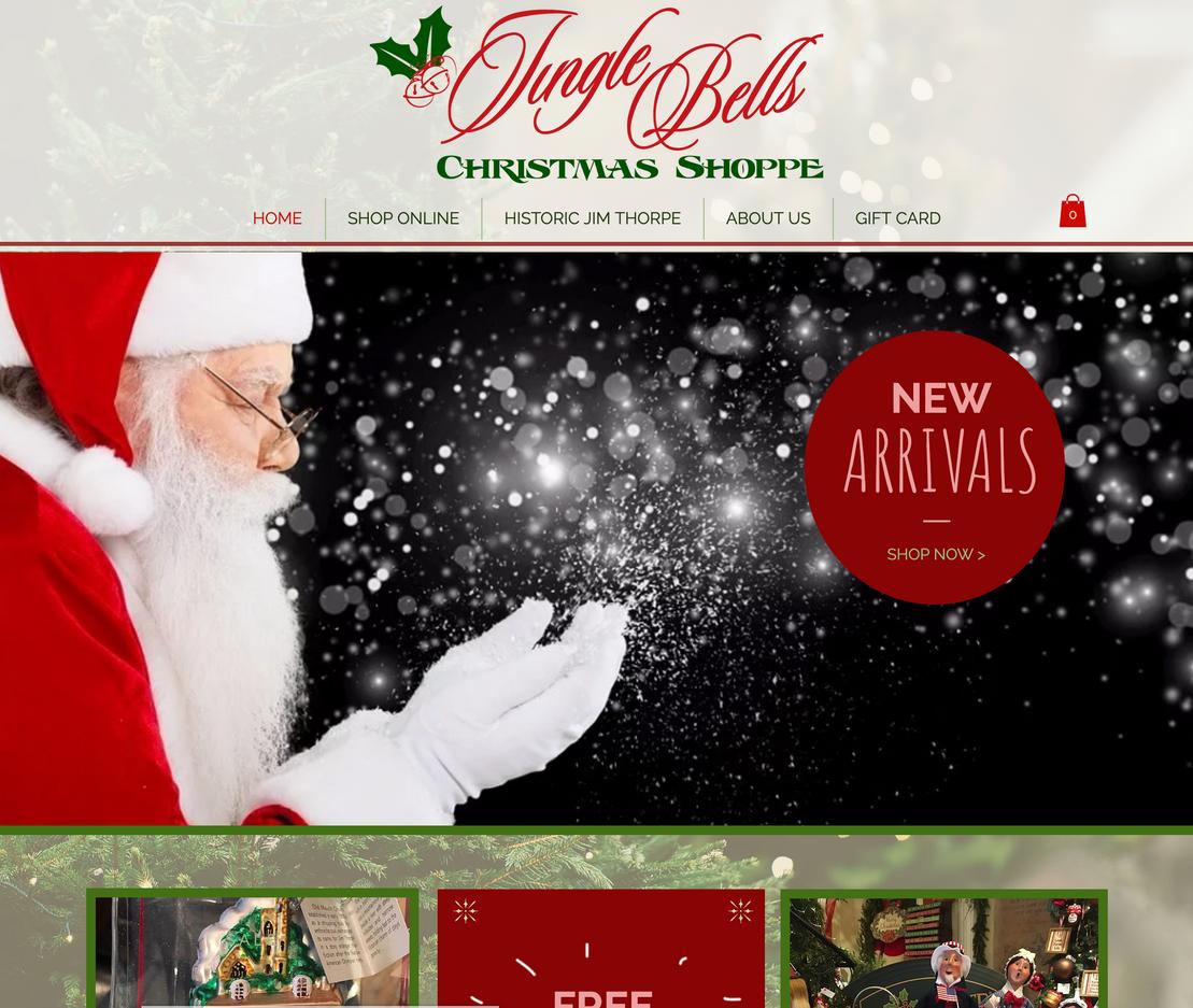 Jingle Bells Christmas Shoppe e-Commerce Website