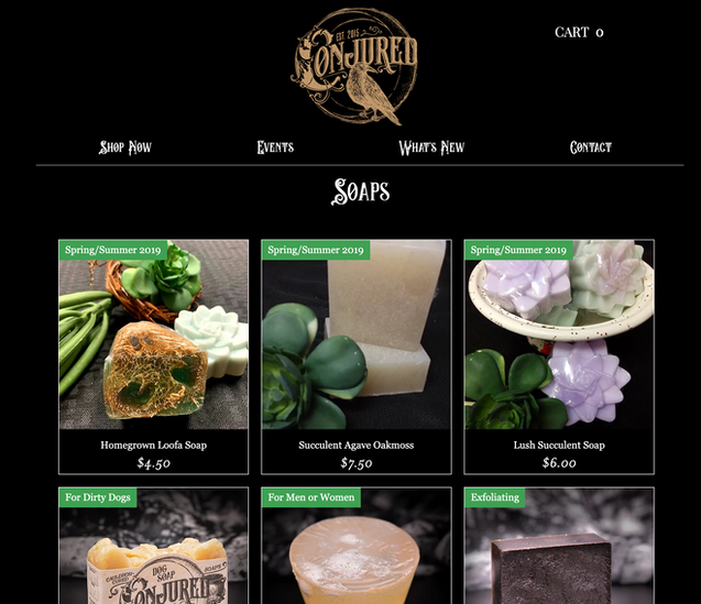 Conjured Soap Boutique e-Commerce Website