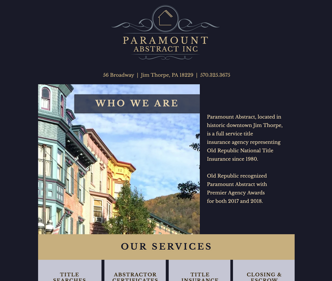 Paramount Abstract Website