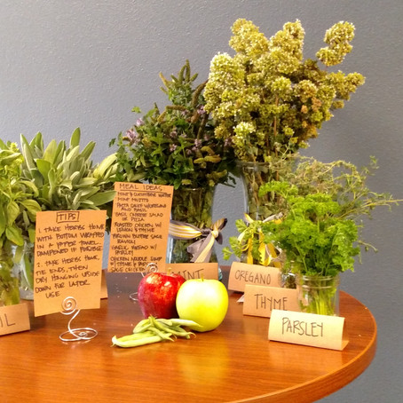 A farmer's market - at the office.