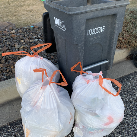 Keeping up with the Joneses'... garbage can.