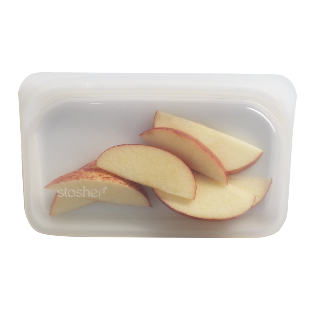 Stasher bag, a reusable silicone sandwich or snack bag