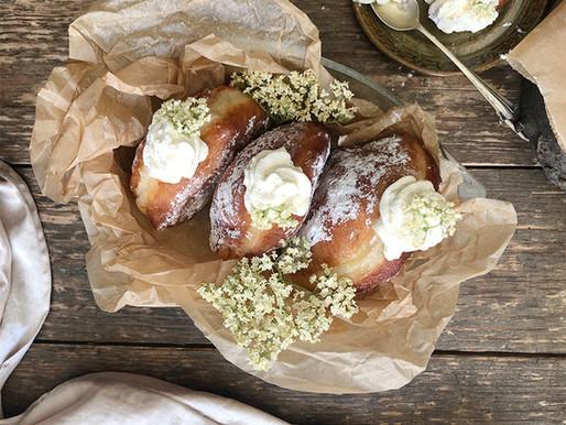 Elderflower & honeysuckle doughnuts