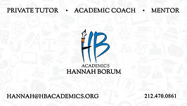 HB Academics Business Card