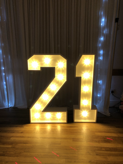 21st LED Light Up Numbers