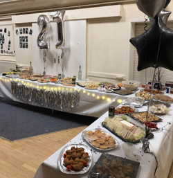 Food Spread at a 21st