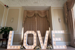 Our four foot LED LOVE Letters
