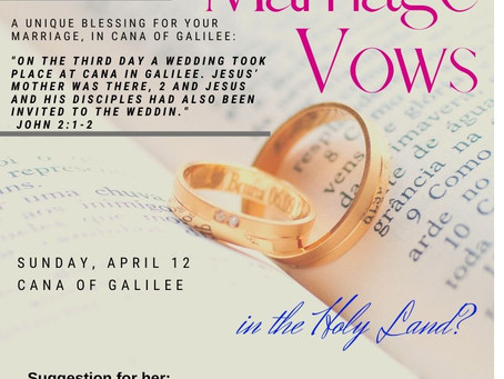 Renewing your Marriage Vows in Israel?