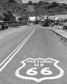 Roadshield in Oatman