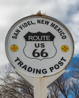 San Fidel Trading Post Sign