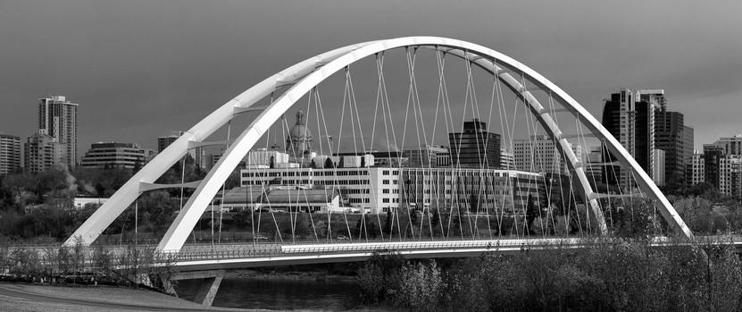 Walterdale Bridge - B&W